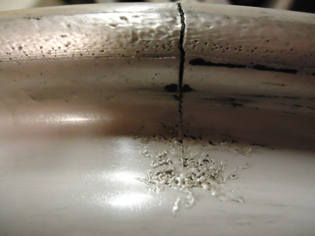 cracked alloy repair